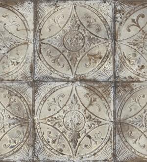 Papel pintado mosaico metálico tonos grises Halim Mosaic 124418