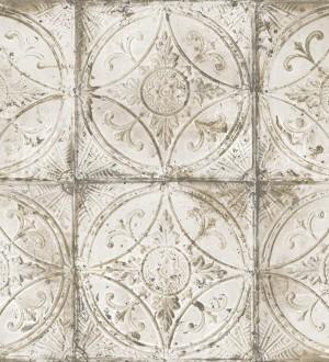 Papel pintado mosaico metálico tonos blancos Halim Mosaic 124419