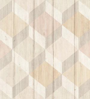Papel pintado cubos de colores 3D Porvoo Wood 125222