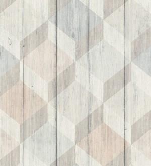Papel pintado cubos de colores 3D Porvoo Wood 125223