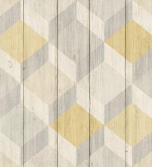 Papel pintado cubos de colores 3D Porvoo Wood 125227
