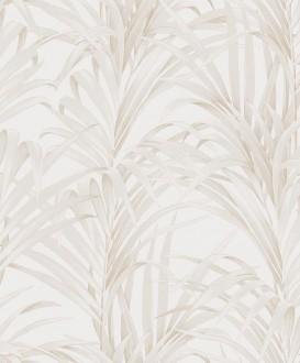Papel pintado hojas de helecho con estilo fondo blanco roto Líbano 231744