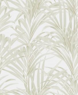 Papel pintado hojas de helecho con estilo fondo blanco roto Líbano 231749