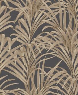 Papel pintado hojas de helecho con estilo fondo gris oscuro Líbano 231750