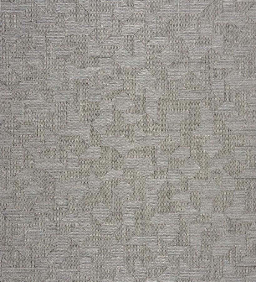 Papel pintado piezas de tangram texturizado fondo gris Felisto 230195