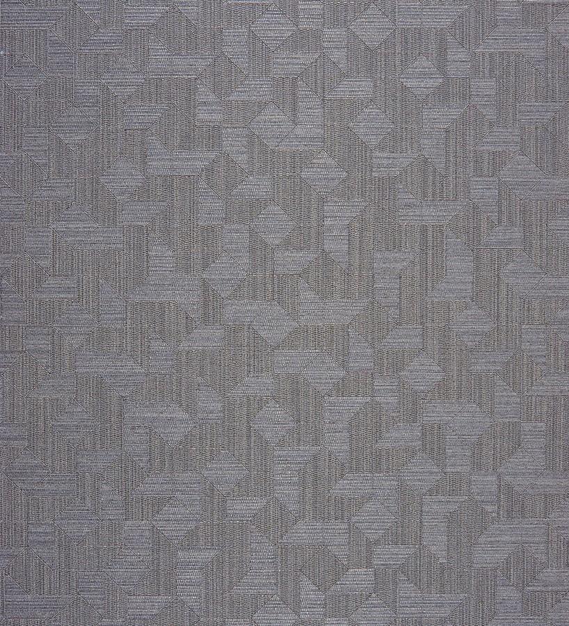 Papel pintado piezas de tangram texturizado fondo gris oscuro Felisto 230199