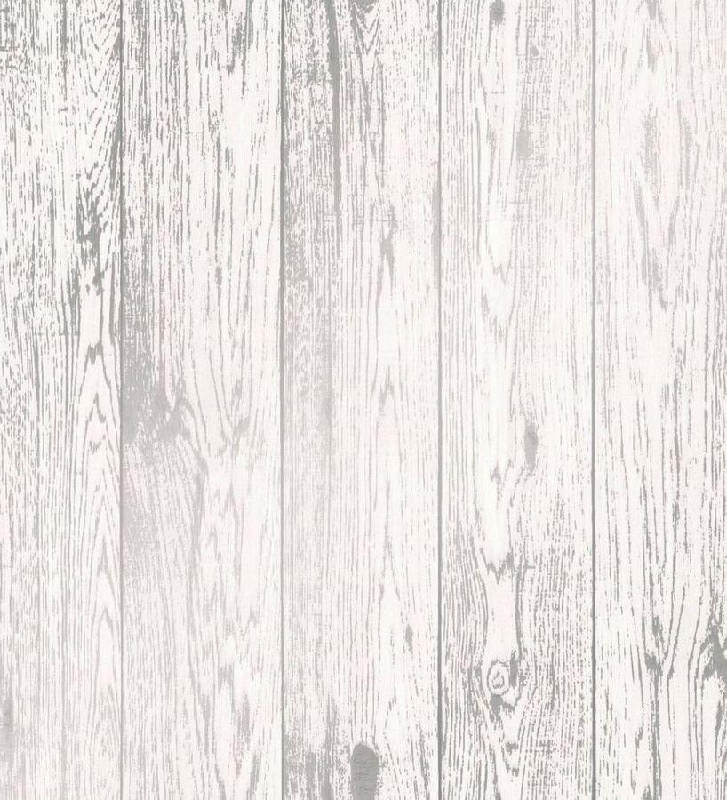 Papel pintado listones de madera blanca vetas grises Porto Taranto 680106