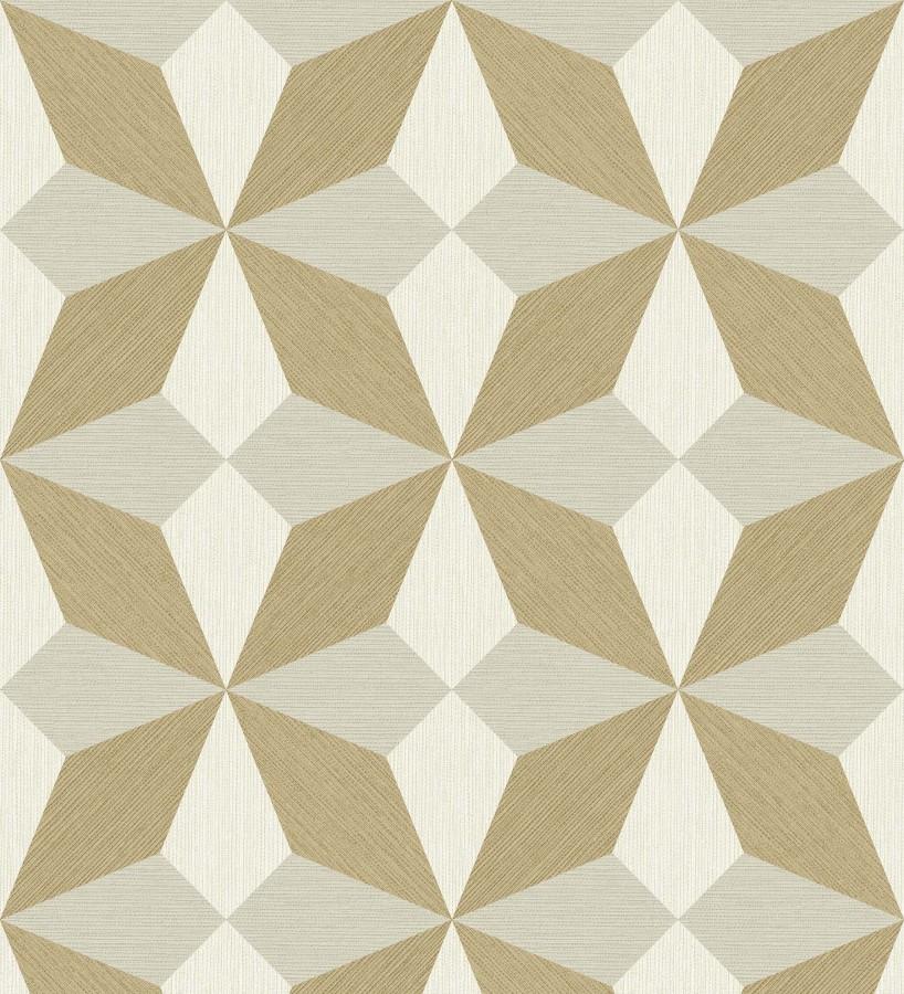Papel pintado geométrico de estrellas Star Metrix 679255
