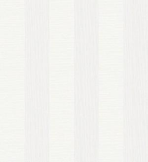 Papel pintado rayas metalizadas blancas Raya Torino 679259