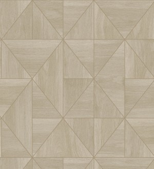Papel pintado geométrico efecto madera estilo Art Déco Royal Lodge 679276