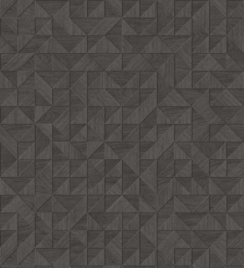 Papel pintado geométrico con textura efecto madera Fort William 679279