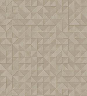 Papel pintado geométrico con textura efecto madera Fort William 679281