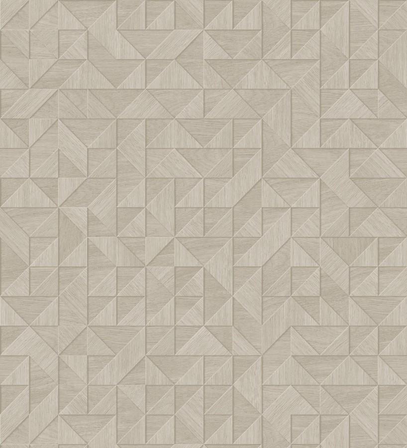 Papel pintado geométrico con textura efecto madera Fort William 679282