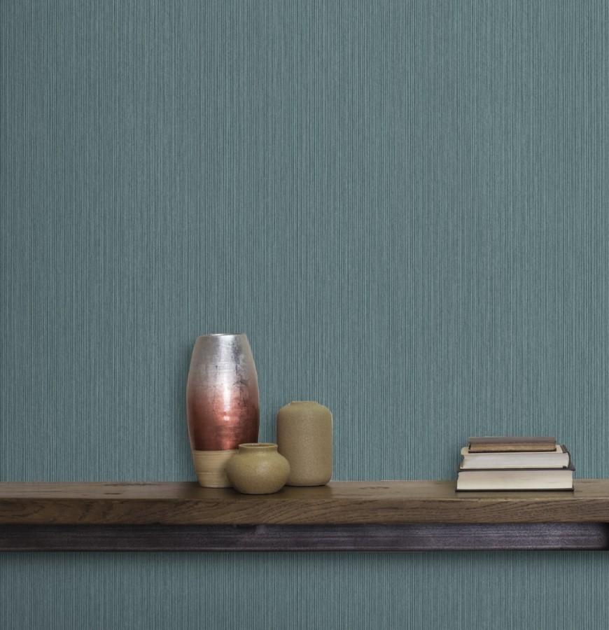 Papel pintado texturizado tonos azulados Torino 679289