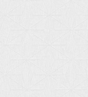Papel pintado geométrico texturizado blanco Corinto 679296
