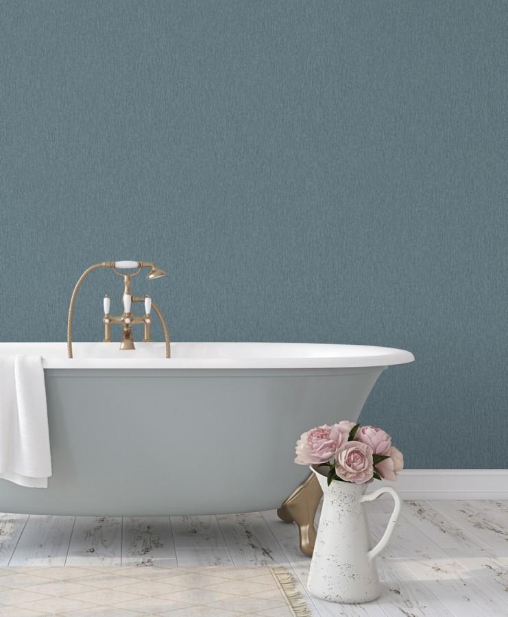 Papel pintado liso texturizado tonos azulados Manilva 679299