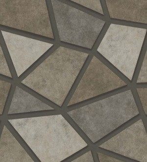 Papel pintado mosaico de piedra tonos marrones Newton Hill 679301