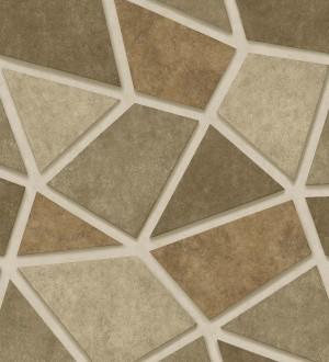 Papel pintado mosaico de piedra tonos ocre Newton Hill 679304