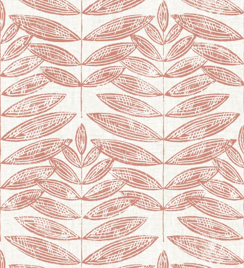 Papel pintado hojas coral de estilo nórdico Quebec Leaves 679395