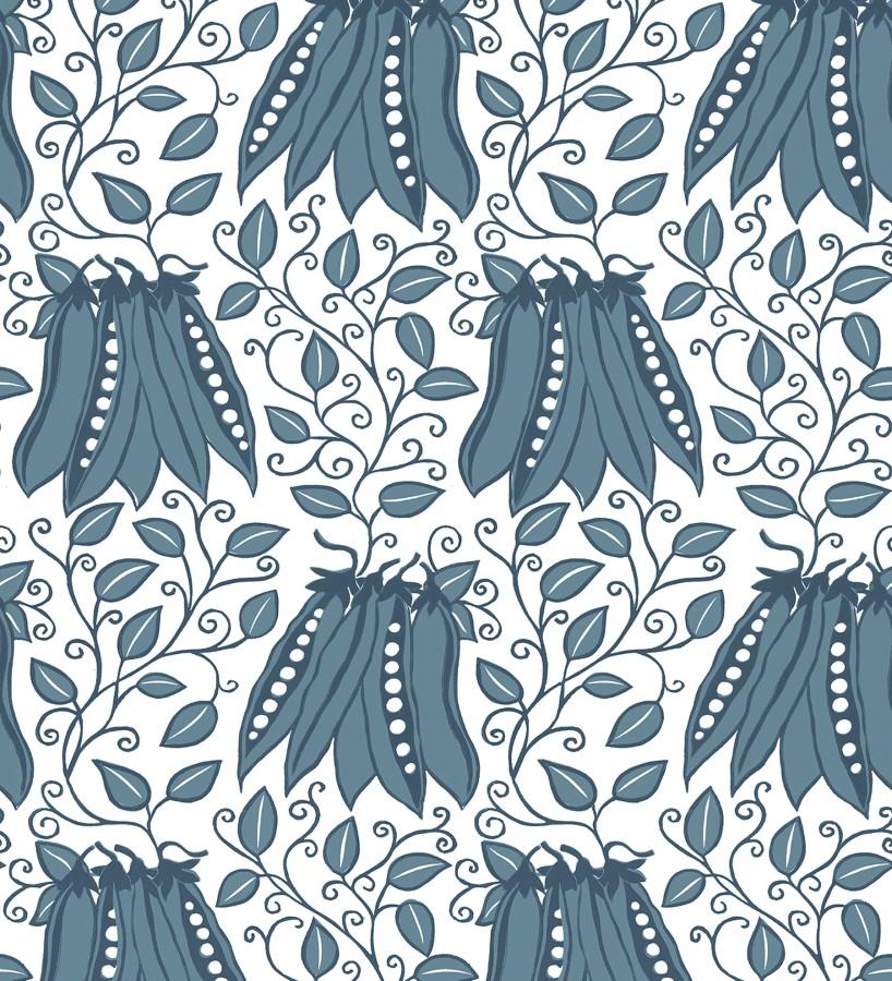 Papel pintado jardín vegetal azul moderno Veggie Garden 679410