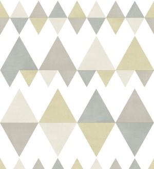 Papel pintado rombos y triángulos estilo nórdico tonos beige y grises Hans Metrix 679419