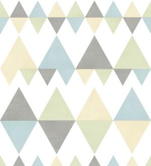 Papel pintado rombos y triángulos estilo nórdico tonos tropicales Hans Metrix 679422