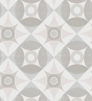 Papel pintado geométrico de círculos estilo nórdico Willem Norsk 679425