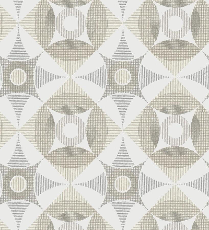 Papel pintado geométrico de círculos estilo nórdico Willem Norsk 679426