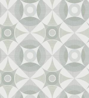 Papel pintado geométrico de círculos estilo nórdico Willem Norsk 679427