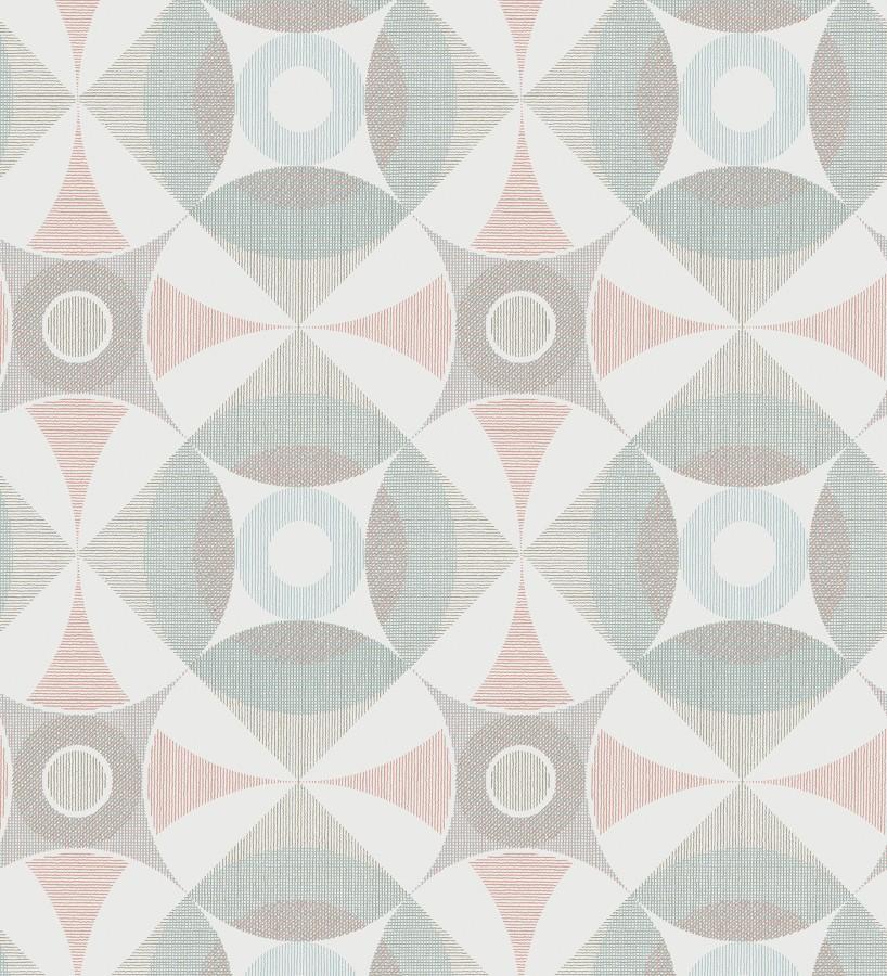 Papel pintado geométrico de círculos estilo nórdico Willem Norsk 679428