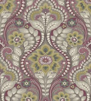 Papel pintado damasco floral moderno estilo hindú Regency Damask 679447