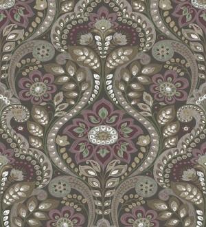 Papel pintado damasco floral moderno estilo hindú Regency Damask 679448