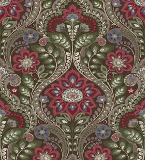 Papel pintado damasco floral moderno estilo hindú Regency Damask 679449
