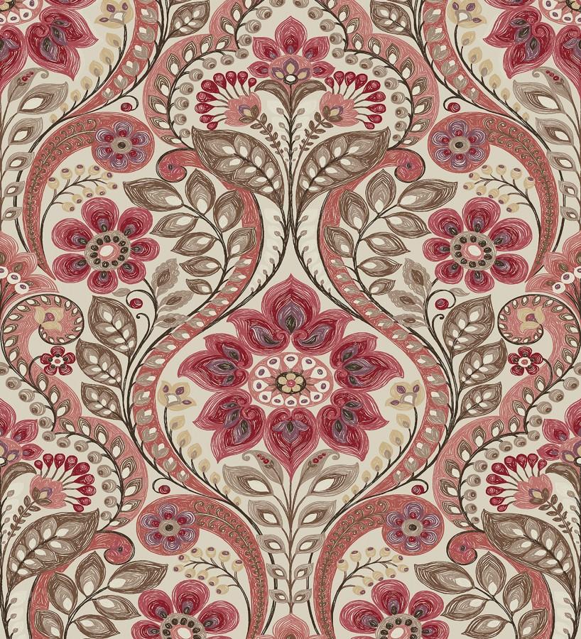 Papel pintado damasco floral moderno estilo hindú Regency Damask 679450