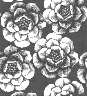 Papel pintado flores grandes estilo nórdico Magnolia 679457