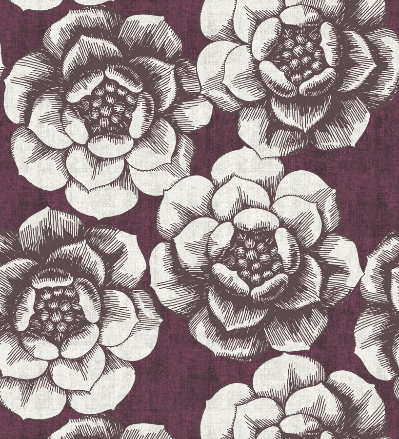 Papel pintado flores grandes estilo nórdico Magnolia 679458