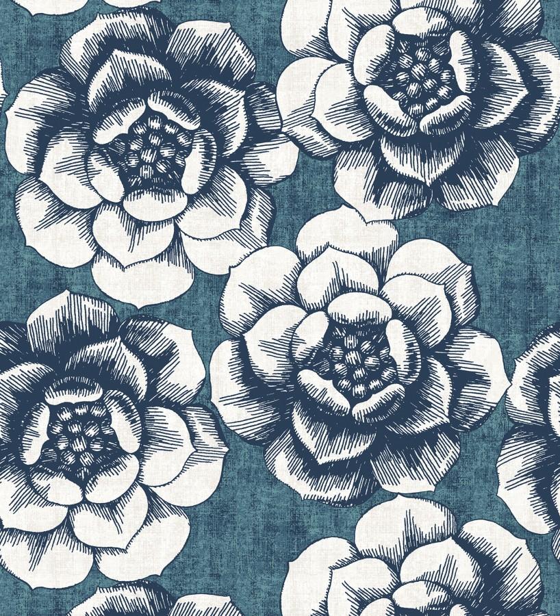 Papel pintado flores grandes estilo nórdico Magnolia 679489