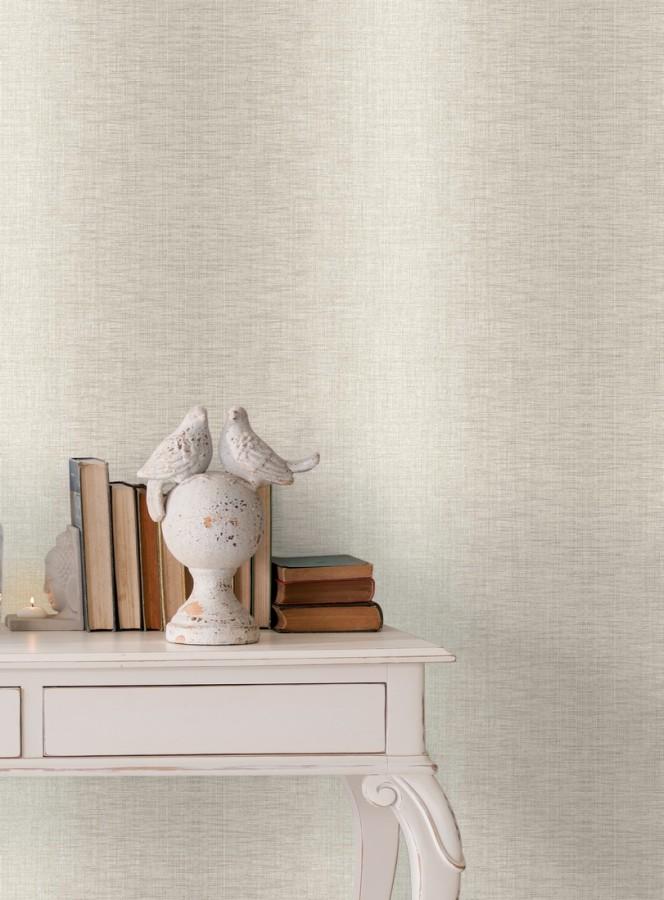 Papel pintado de rayas anchas difuminadas efecto textil Pacific Fabric 679493