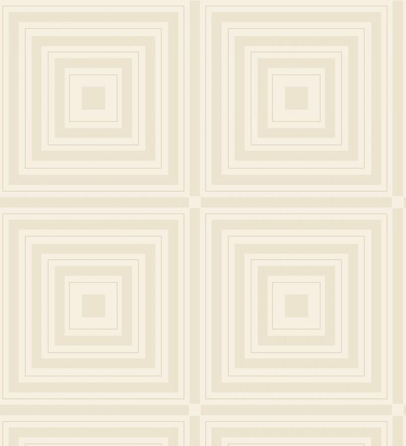 Papel pintado geométrico de cuadros concéntricos con cristales de gel en relieve Heracles 679506