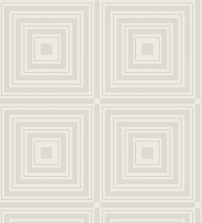 Papel pintado geométrico cuadros concéntricos de cristales en relieve Heracles 679507