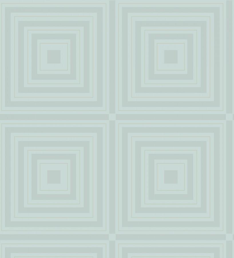 Papel pintado geométrico cuadros concéntricos de cristales en relieve Heracles 679508