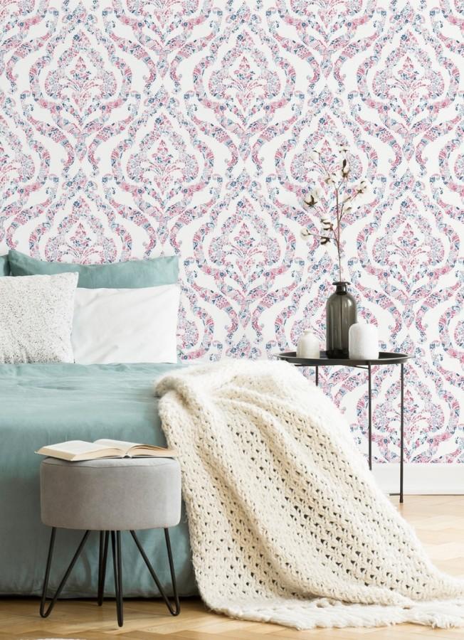 Papel pintado damasco moderno estilo inglés Spring hall 679518