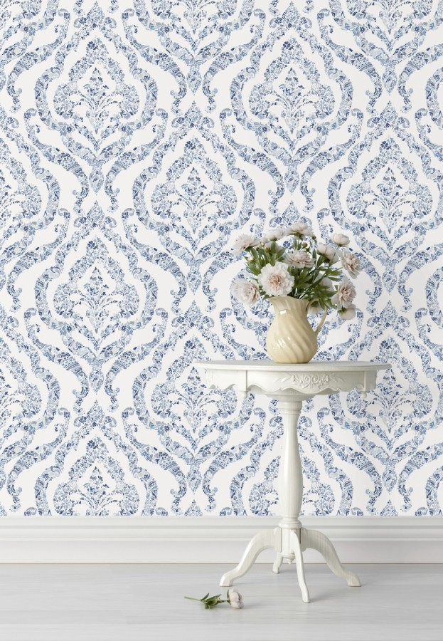Papel pintado damasco moderno estilo inglés Spring hall 679521