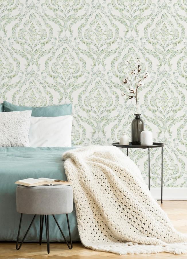 Papel pintado damasco moderno estilo inglés Spring hall 679522