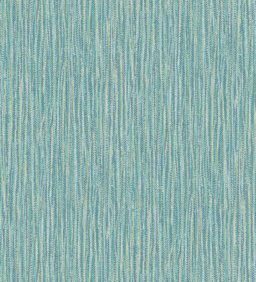 Papel pintado rayado con textura estilo tropical tonos turquesa Belize 679538
