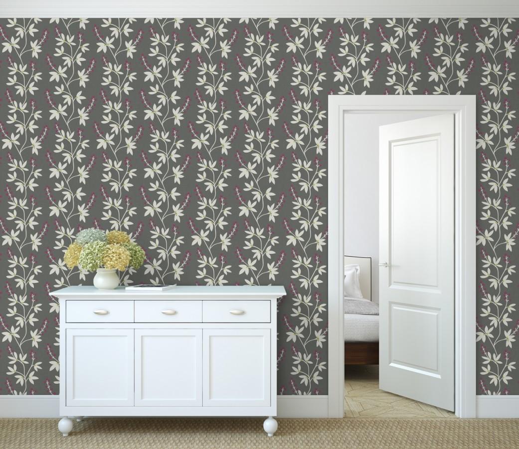 Papel pintado flores y ramas estilo nórdico Dover Garden 679557