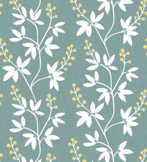 Papel pintado flores y ramas estilo nórdico Dover Garden 679558