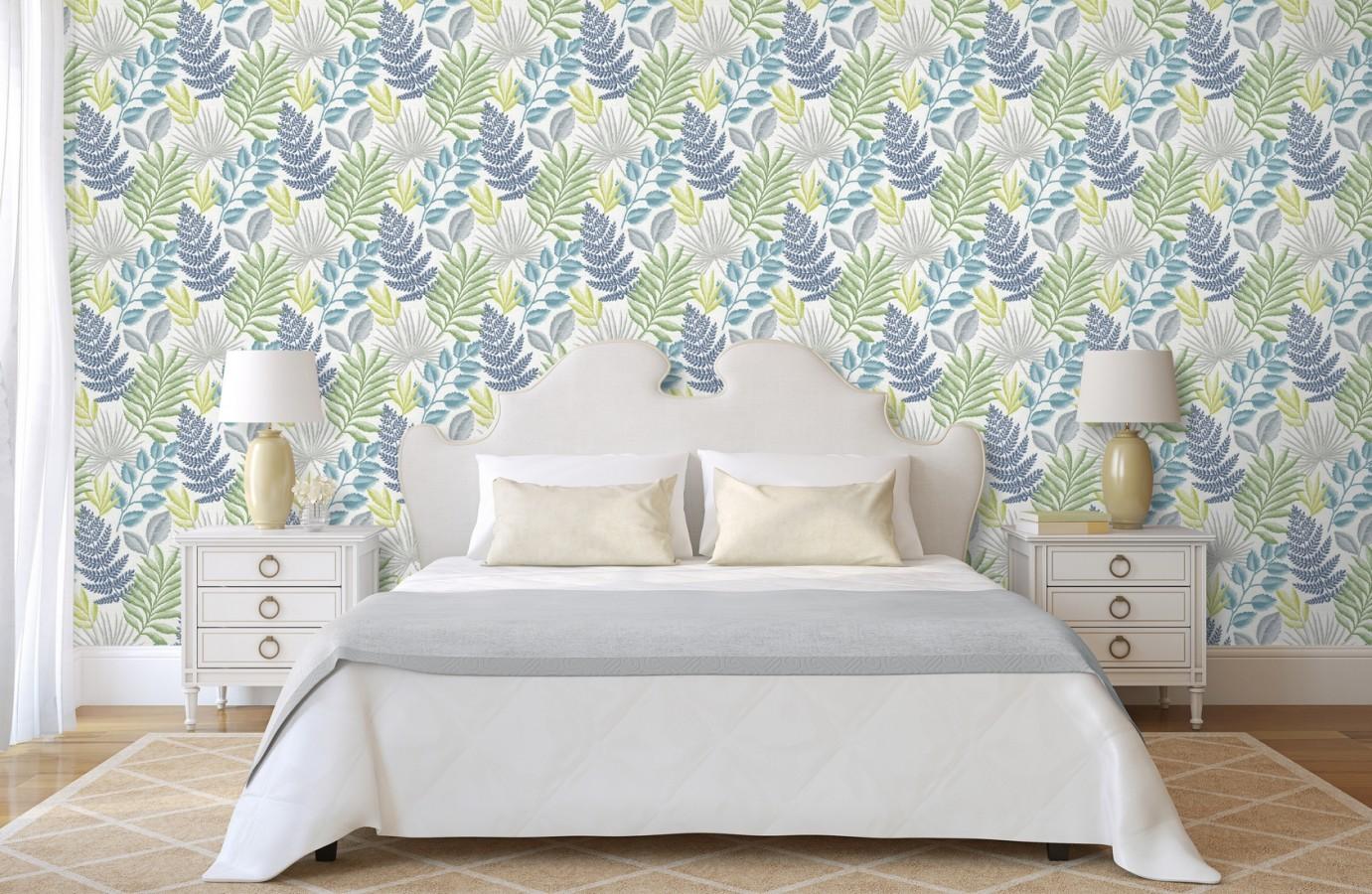 Papel pintado hojas silvestres estilo tropical Acapulco 679569