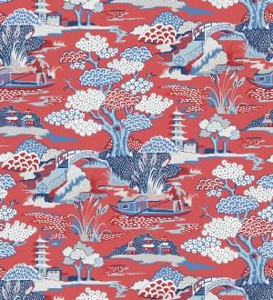 Papel pintado toile de jouy japones Mandarin Garden 679574