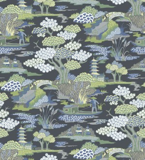Papel pintado toile de jouy japones Mandarin Garden 679575